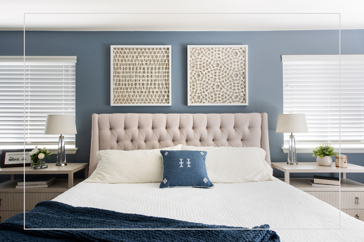5 ways to freshen your home blue bedroom elegantly decorated