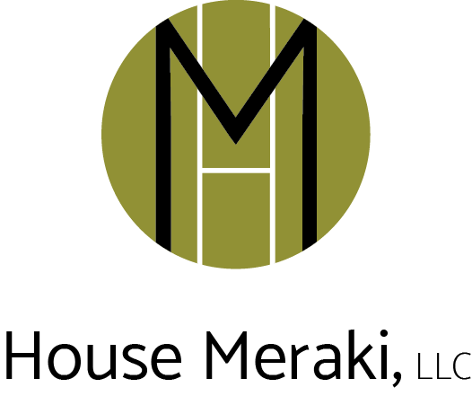 House Meraki, LLC Logo Image with Text